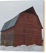 Dictionary's Red Barn Wood Print