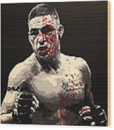 Diego Sanchez - War Wood Print