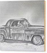 Diehard Dodge Wood Print