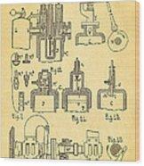 Diesel Internal Combustion Engine Patent Art 1898 Wood Print