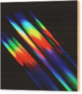 Diffracted Light Pattern Wood Print
