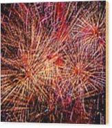 Diffuse Fireworks  Wood Print