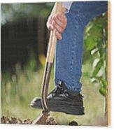 Digging Soil Wood Print