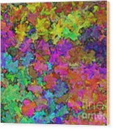 Digiral Abstract Colors Rich Wood Print