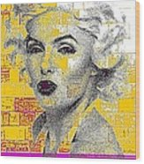 Digital Art Marilyn Wood Print