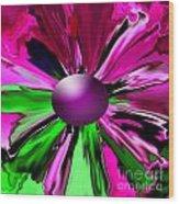 Digital Flower Wood Print