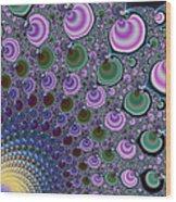 Digital Fractal Artwork Beautiful Colors Wood Print
