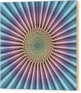 Digital Mandala Flower Wood Print