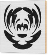 Digital Mono 15 The Clown Wood Print