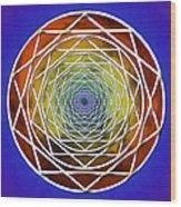 Digital Pentagon Wormhole Wood Print