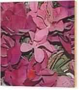 Digital Roses Wood Print