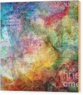 Digital Watercolor Abstract Wood Print