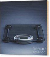 Digital Weighing Scales Wood Print