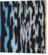 Digital Zebra Coat Wood Print