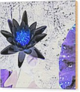 Digitally Altered Water Lily Wood Print