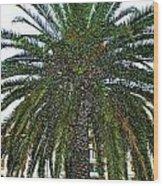 Digitized Cali Palm  Wood Print