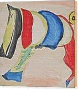 Digitty Dog Wood Print