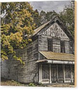 Dilapidated Wood Print by Heather Applegate