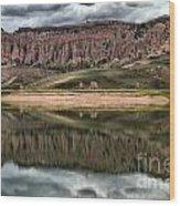Dillon Pinnacles In Blue Mesa Wood Print
