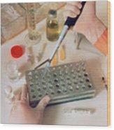 Dilution Of Heparin In Heparin Potency Research Wood Print