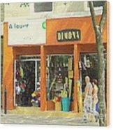 Dimona Latin Quarter Romantic Morning Summer Stroll Pretty Streets Montreal City Scene C Spandau Wood Print