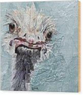 Dimples - An Ostrich Wood Print