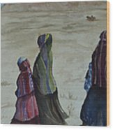 Dineh Leaving The Trading Post Wood Print
