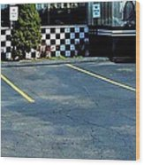 Diner At The Asphalt Headwaters Wood Print