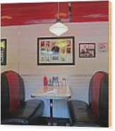 Diner Booth Wood Print