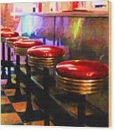 Diner - V2 - Square Wood Print