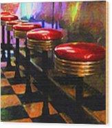 Diner - V2 Wood Print