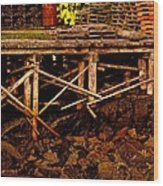 Dinghy Dock Wood Print
