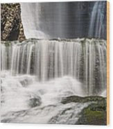 Dingmans Falls Close Up Wood Print