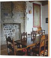 Dining At Donegal Castle Wood Print