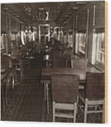 Dining Car Wood Print