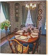 Dining Room And Dinner Table Wood Print