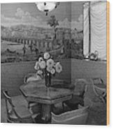 Dining Room In Helena Rubinstein's Home Wood Print