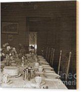 Dining Room Table Circa 1900 Wood Print