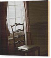 Dining Room Window Wood Print