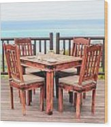 Dining Table Wood Print by Tom Gowanlock