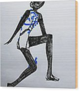 Dinka Silhouette - South Sudan Wood Print