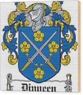 Dinneen Coat Of Arms Irish Wood Print