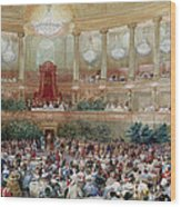 Dinner In The Salle Des Spectacles At Versailles Wood Print