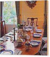 Dinner Table Wood Print