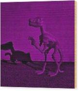 Dino Dark Purple... Barney Wood Print