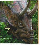 Dino In The Bronx Five Wood Print