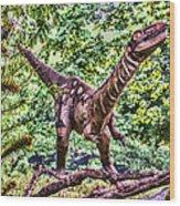 Dino In The Bronx One Wood Print