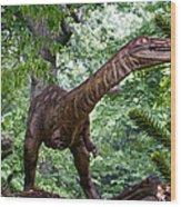 Dino In The Bronx Three Wood Print