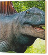 Dino In The Bronx Two Wood Print