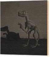 Dino Monochrome Wood Print